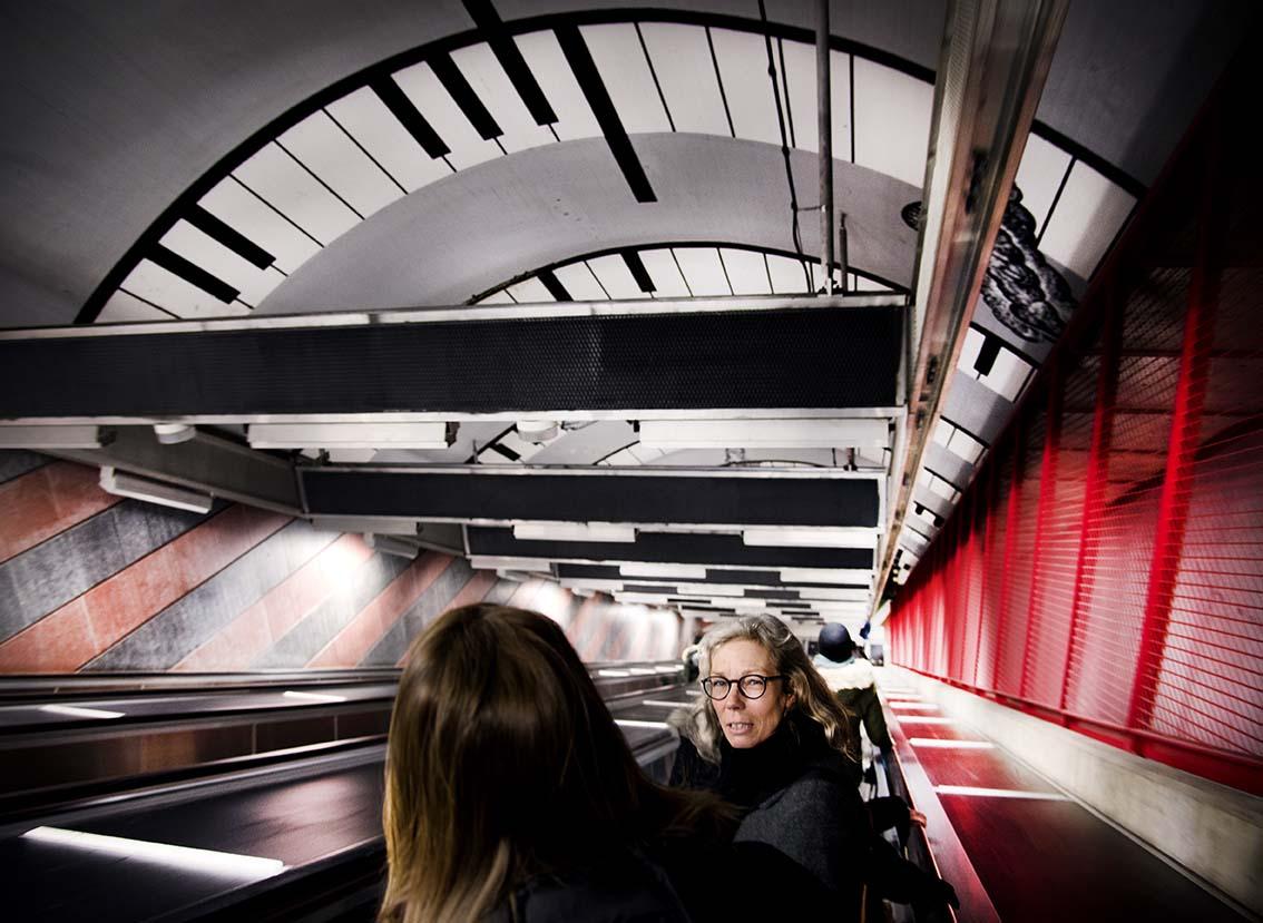 Konståkning i tunnelbanan