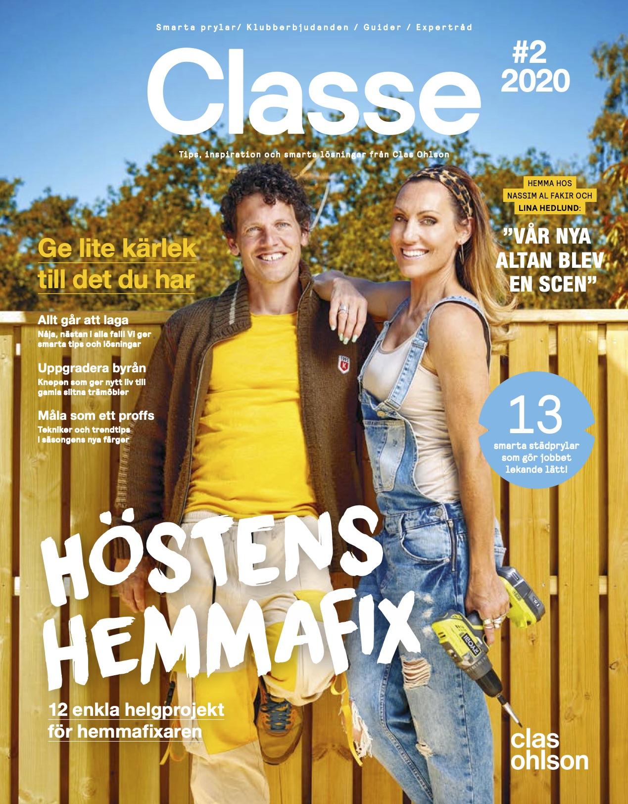 Möt Lina Hedlund och Nassim al Fakir i Clas Ohlsons magasin Classe